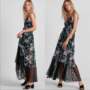 "Express ""Etite"" Floral Strappy Lace-Up Maxi XSmall"